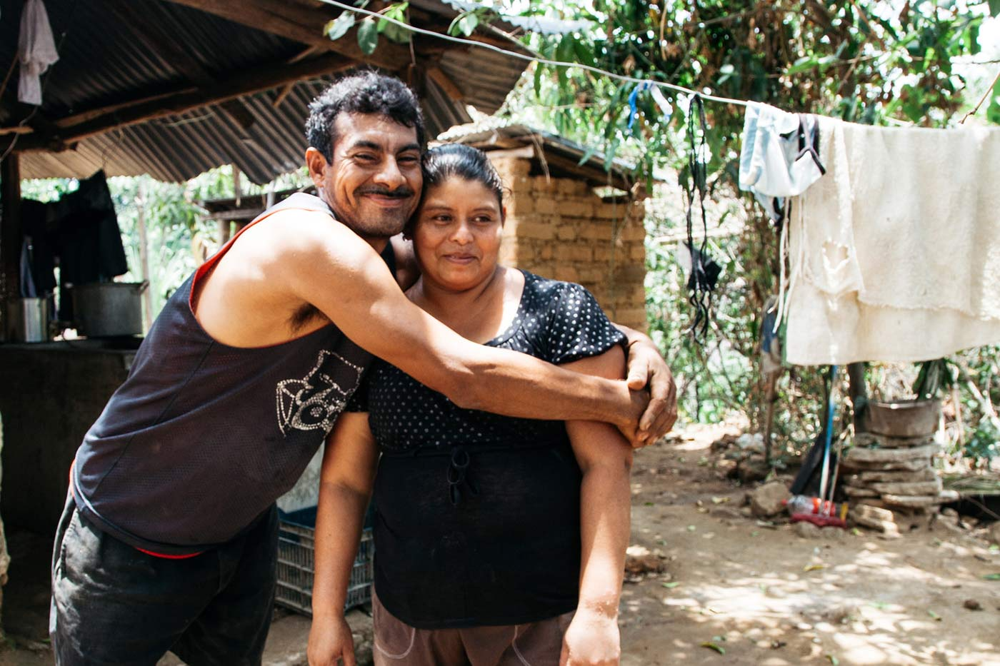 José León Torres and María Magdalena Castillo, husband and wife project participants, at their home in the community of Las Haciendas